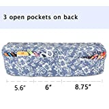 Luxja Dust Cover Compatible with Cricut Explore Air and Explore Air 2, Canvas Cover with Back Pockets, Flowers