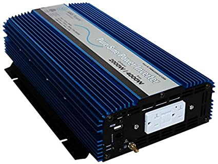 New 5000 Watt 12 Chargers & Inverters Home Improvement 24 And 48volt Pure Sine Power Inverter With Gfci Outlets Latest Technology