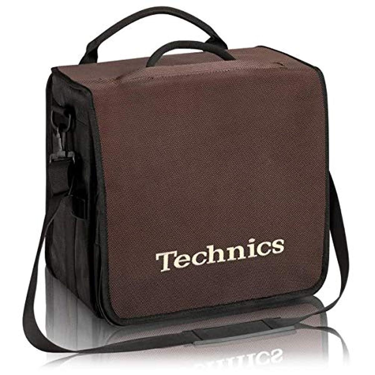 [해외] TECHNICS테크닉스 / BACKBAG BROWN/BEIGE 레코드 약60 매수납가 레코드 화이트
