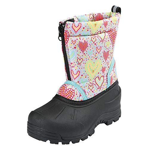 Northside Kid's Icicle Winter Snow Boot, Gray/Multi, 7 M US Toddler