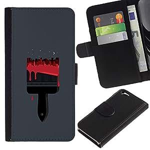 ZCell / Apple Iphone 6 / Paint Red Minimalist Polygon Street / Caso Shell Armor Funda Case Cover Wallet / Pintura Rojo minimalista Polígo
