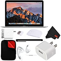 Apple 12 MacBook (Mid 2017, Silver) (MNYJ2LL/A) + MicroFiber Cloth + Padded Case For Macbook Bundle