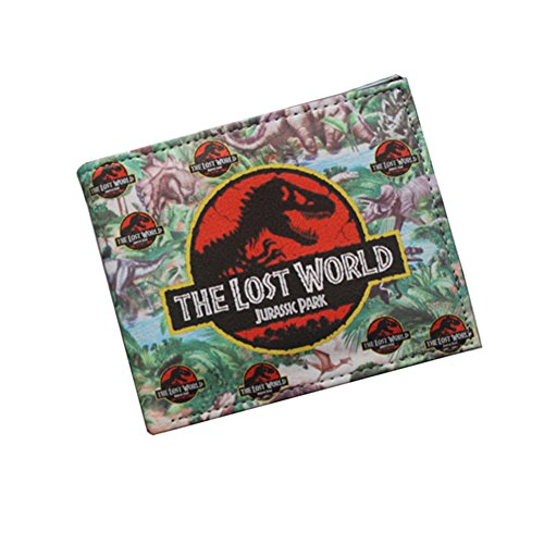 Jurassic World PU Leather Character Bifold Wallet (One Size, Black) ()