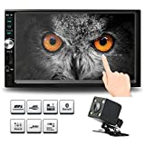 Cheap Double Din Car Stereo, 7 Inches Touch Screen Car Radio MP5 MP3 Player,Supports Bluetooth/FM/Rear Camera/USB/TF with Remote Control by Ironpeas