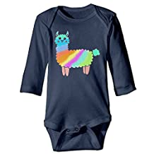 Unisex Baby Onesies Rainbow Llama Lama Glama Long Sleeve