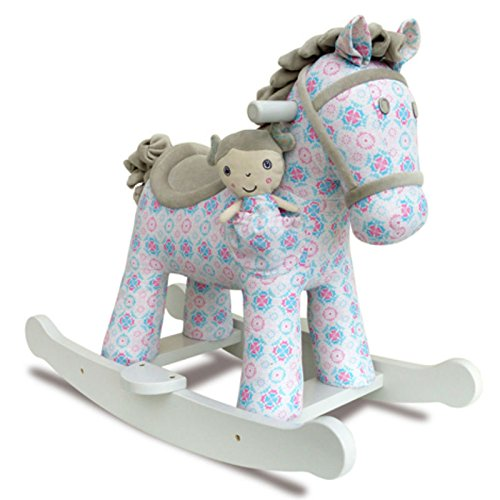Little Bird Told Me Rosie & Mae Rocking Horse Stuffed Animal Ride On by Little Bird Told Me