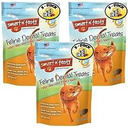 Smart n' Tasty Cat Chicken Dental Grain Free Treats (Pack of 3)