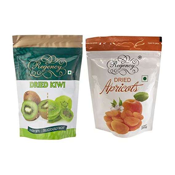 Regency Dried Kiwi, 200g & Dried Apricots Packet, 200g Combo