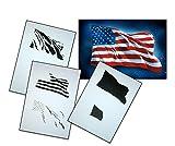 UMR-Design AS-077 USA Flag Airbrushstencil Step by Step Size XL