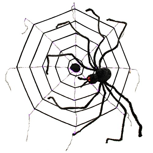 Outdoor Lighted Spider Web - 4
