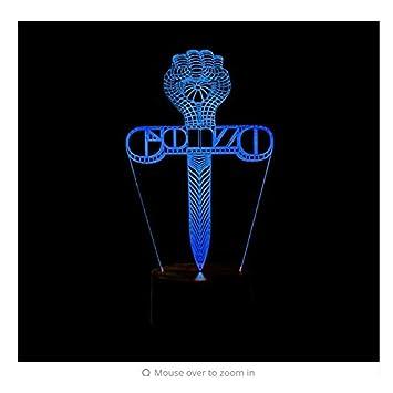 Ventilador de Techo Lámparas de Araña Lámparas de Pared Luces de Noche Cruzadas en 3D Espada Led Tabla ...