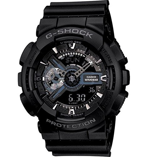 200m Time World G-shock Watch (G-Shock Ana-digi World Time Black Dial Men's watch #GA110-1B)