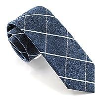 "Zenxus Casual Skinny Necktie Slim Cotton Ties 2(1/2)""Width Various Colors Plaid Pattern"