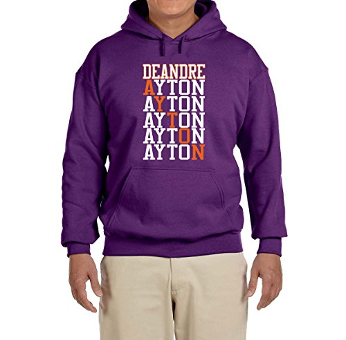 Deetz Shirts PURPLE Phoenix Ayton Text Hooded Sweatshirt YOUTH XL (Steve Nash Youth Jersey)