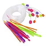 12pcs Colorful Plastic Carpet Rug Crochet Hook Needles 3.5 mm - 12.0 mm