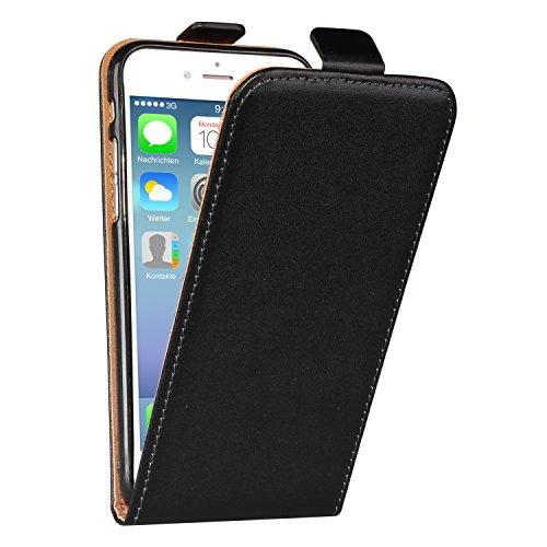 deinphone 2370003Apple iPhone 7étui à rabat en cuir–cuir véritable noir