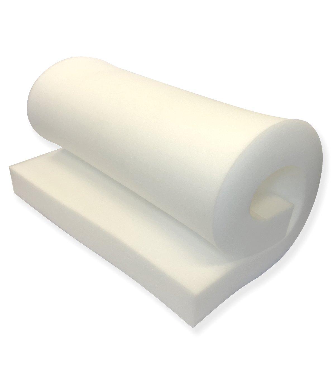 Mybecca Upholstery Foam Cushion Medium Density (Seat Replacement, Sheet, Padding), 5'' H X 24'' W x 72'' L