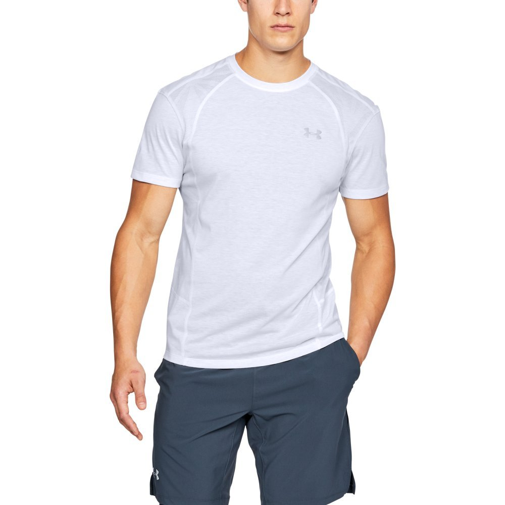 Under Armour Men's Swyft Short Sleeve Shirt, White
