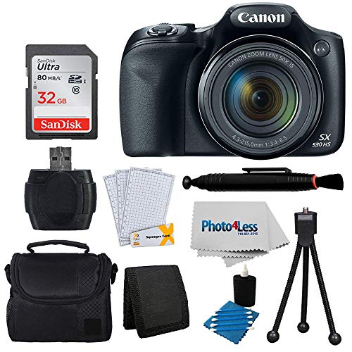 Canon PowerShot SX530 HS Digital Camera + 32GB Memory Card + Great Value Accessories