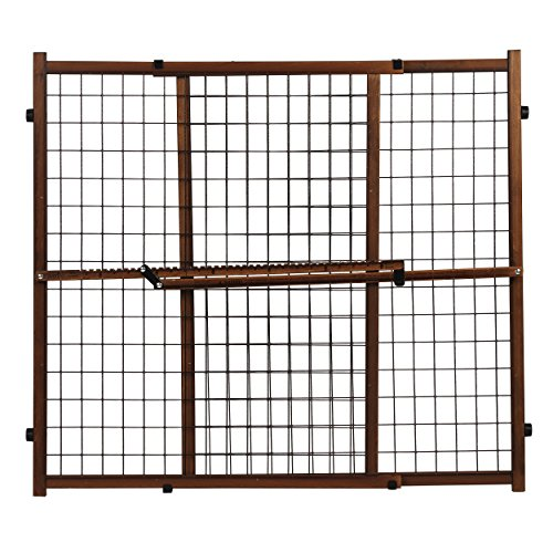Evenflo Position and Lock Tall Pressure Mount Wood Gate, Farmhouse by Evenflo