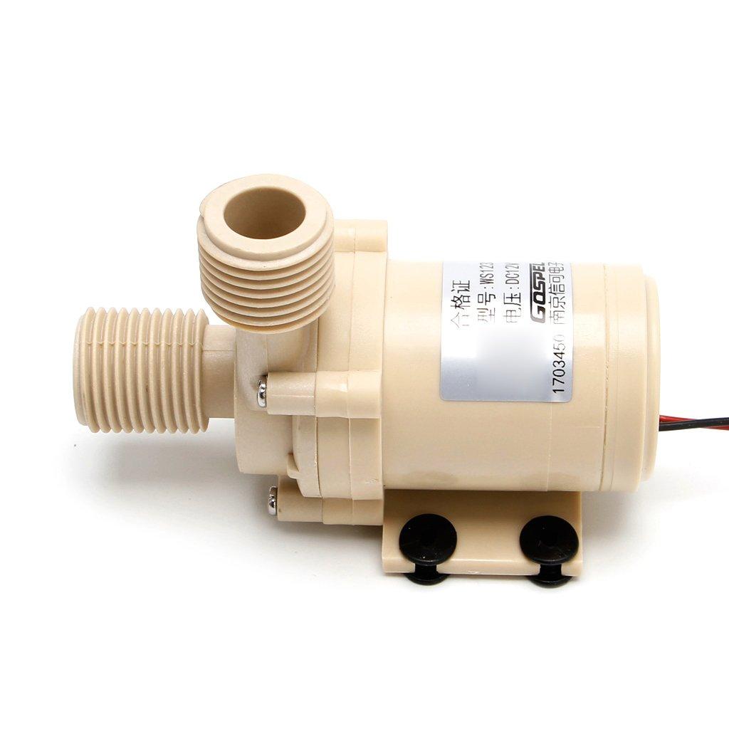 YUNAWU 12V Solar Submersible Hot Water Pump Circulation 212/° F Brushless Motor High Pressure