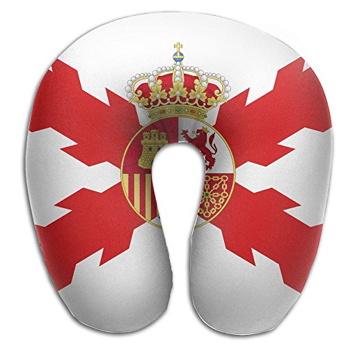 BRECKSUCH Alternate Kingdom Of Spain Flag Print U Shaped Pillow Memory Foam Neck Pillow For Travel And Relief Neck Pain Fashion Super Soft Cervical Pillows With Resilient Material Relex Pollow by BRECKSUCH