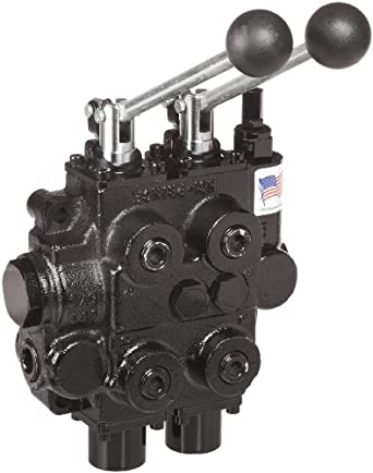"""Prince RD522CCAA5A4B1 Directional Control Valve, Two Spool, 4 Ways, 3 Positions, Tandem Center, Cast Iron, 3000 psi, Lever Handle, 25 gpm, In/Out: 3/4"""" NPTF, Work 1/2"""" NPTF"""