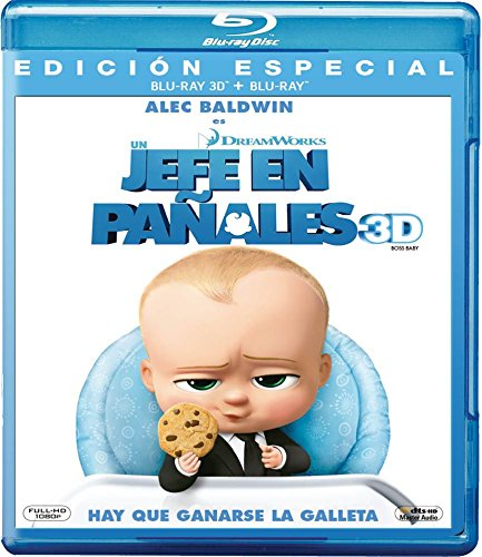 Un Jefe en Paales 3D (BOSS BABY 3D) Blu-ray 3D + Blu-ray (English, Spanish & Portuguese Audio and Subtitles)