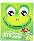 Coromega Child Brain and Body Omega-3 High DHA, 2.5-Gram Squeeze Packets, Lemon Lime, 30-Count