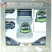 NFL Seattle Seahawks Baby Essentials 5 Piece Newborn Infant Baby Shower Gift Set
