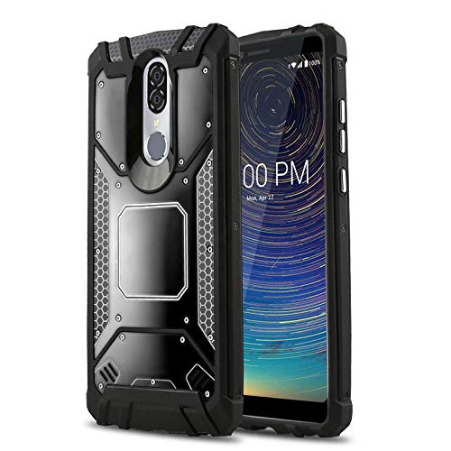 Phone Case for [Coolpad Legacy], [Alloy Series][Black] Aluminum Metal Plate [Military Grade] Shockproof Impact Resistant Cover for Coolpad Legacy (Metro, T-Mobile, Boost Mobile) (Boost Mobile Cases)