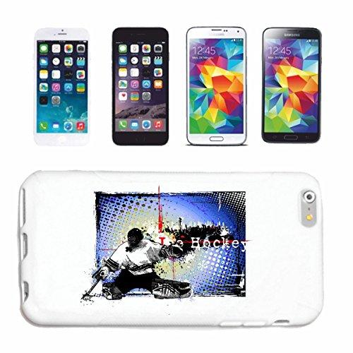 """cas de téléphone iPhone 6+ Plus """"VINTAGE HOCKEY PUCK ÉQUIPE DE HOCKEY SPORT HOCKEY SUR GLACE BAT"""" Hard Case Cover Téléphone Covers Smart Cover pour Apple iPhone en blanc"""