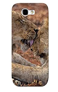 Kathewade High-quality Durability Case For Galaxy Note 2(animal Lion Cat Animal)