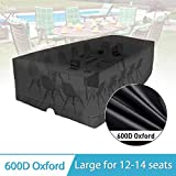 KING DO WAY Patio Furniture Cover Rectangular Patio Table & Chair Set Cover, Durable and Water Resistant Fabric Garden Furniture Cover Outdoor Furniture Cover (137.8'' x 102.4'' x 35.4'')
