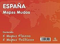 GRUPO ERIK EDITORES, S.L. - Pack mapas mudos es España 5+5 Grupo Erik blanco y celeste: Amazon.es: Oficina y papelería