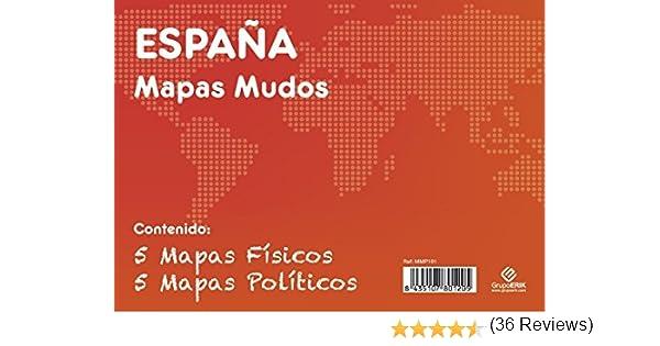 GRUPO ERIK EDITORES, S.L. - Pack mapas mudos es España 5+5 Grupo ...