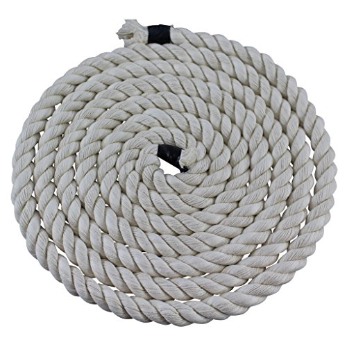Twisted Cotton Rope (1/4 inch) - SGT KNOTS - All Natural Fiber Cord - Durable and Versatile Utility Rope - Crafting, DIY Use, Binding, Home Decor, Camping, Boating, Marine (100 feet - Natural) by SGT KNOTS (Image #1)