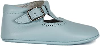 b92e0dd53499 ChildrenChic My First T-Band Booties – Leather Baby Shoes for Boys and Girls  (