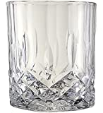 Lead-Free Crystal Double Old-Fashioned Highball Water Glasses, SET OF 6, Heavy Base Barware Glasses Set, 12oz Drinking Glasses