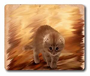 """Furry Kitten Cat Painting Personalized Style (01150560) Custom Oblong Gaming Mousepad Standard Size 220mm*180mm*3mm Rectangle Mouse Pad in 9""""*7"""""""