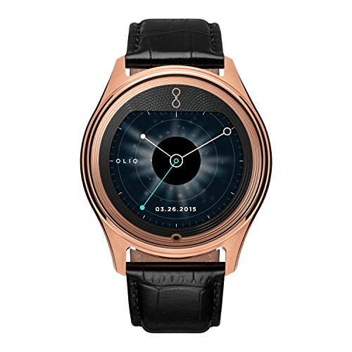 Olio 'One' H1B-SKU-14 Stainless Steel and 18K Rose Gold Smartwatch