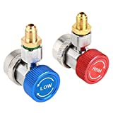 R134 A/C Low/High Quick Connector Air Conditioning Coupler Adapter with Cap
