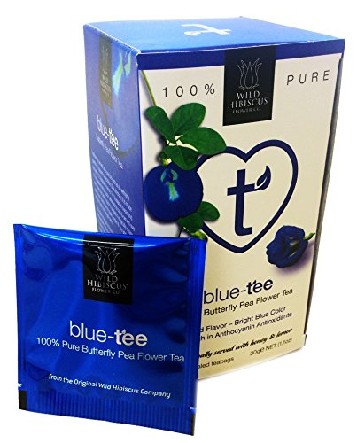 Blue Tee Blauer Tee 100 Butterfly Pea Flower Tea 20 Teebeutel