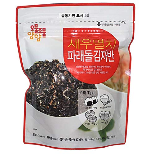 Seasoned Seaweed Cut with Shrimp Anchovy 40g by Cheonmyeong