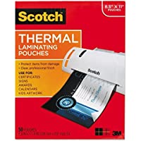 Scotch TP385450 Letter Size Thermal Laminating Pouches, 3 mil, 11 1/2 x 9, 50/Pack