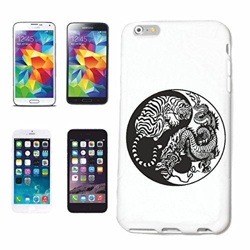 "cas de téléphone iPhone 7 ""TIGER DRAGON DRAGON SIGN CHINA SHANGHAI TIGER WILD ANIMAL BIG CAT LEOPARD BIG CAT"" Hard Case Cover Téléphone Covers Smart Cover pour Apple iPhone en blanc"