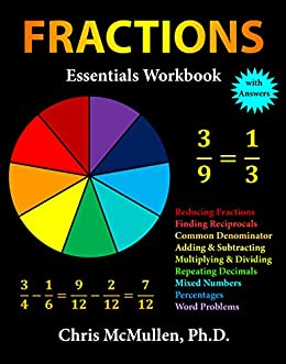 Fractions essentials workbook with answers chris mcmullen amazon fractions essentials workbook with answers by mcmullen chris fandeluxe Images