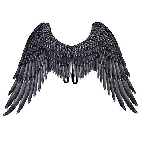 Vantina Unisex 3D Angel Wings Halloween Mardi Gras Costume Accessory White Black for Adult Women Men