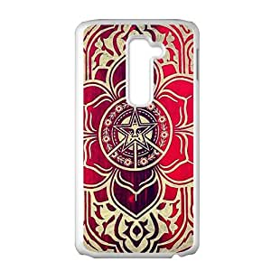 peace and justice obey Red star flowers Cell Phone Case for LG G2