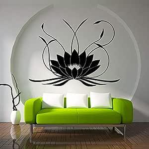Modeganqingg 3D Mandala Lotus Etiqueta de la Pared PVC ...
